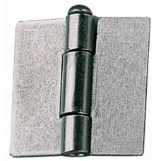 Charnières américaines à broche mobile, non percé acier décapé - Hauteur x Largeur : 40 x 40 mm