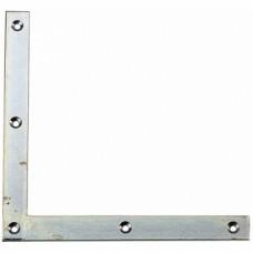 Équerres de renforts à bout carrés acier zingué - Dimensions 250 x 25 x 4 mm