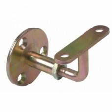 Support de rampe coudé réglable Similaire acier zingué bichromaté pour mains courantes et garde-corps
