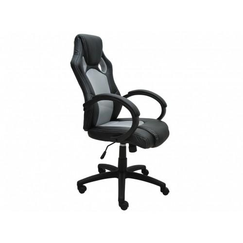 Fauteuil siège baquet de bureau gris noir