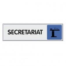 Plaquettes signalétiques -Secrétariat