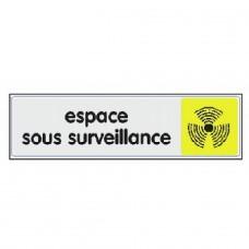 Plaquettes signalétiques -Espace sous surveillance