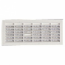 Grille de ventilation B111, 84x230mm, avec moustiquaire, à visser ou à coller