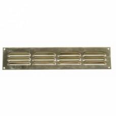 Grille de ventilation en laiton à persiennes, 100x100mm, 30cm2