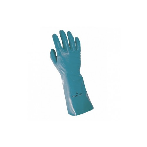 Gants protection chimique vert NITRAF - Taille 7