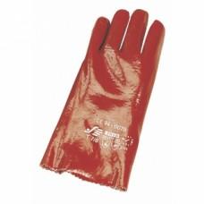 Gants protection chimique rouge MAINBIS de taille 9 - 10