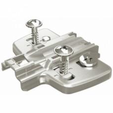 Embases pour ferrure d'angle et montant central - avec vis prémontées - Distance 0.0 mm