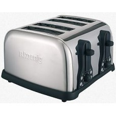 Grille pain 4 tranches inox