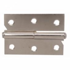 Paumelles de meuble - acier nickelé - Droite - Hauteur 30 mm - Longueur 40 mm