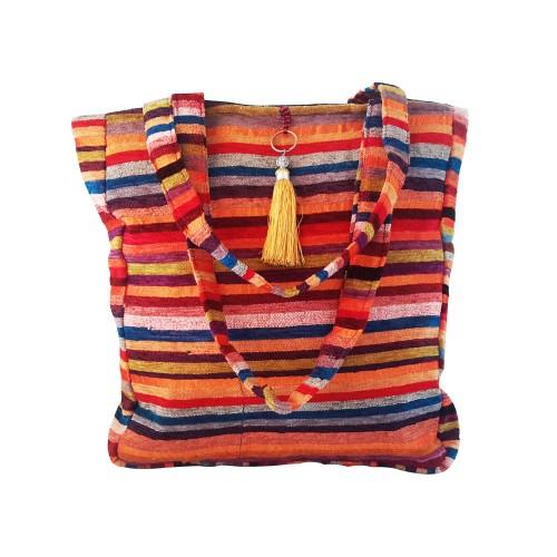 Détails sur  Sac ethnique en sabra et coton coloré - Artisanat Marocain