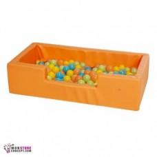 Mini piscine Avec Balles (50 Balles en Vrac) Dim 100 x 50 x 25 – Couleur Orange