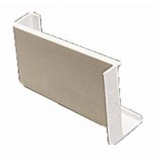 Ferrures de fixation d'éléments hauts - Caches de boîtier 806 - Boîte de 5 - Blanc
