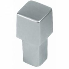 Boutons carrés métal 8090 - Nickelé brossé