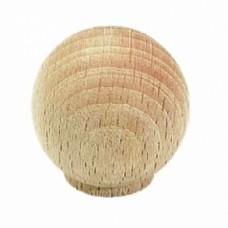 Bouton boule hêtre - Coloris : Hêtre - Diamètre 30 mm