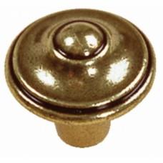 Boutons rustiques zamak - Vieux bronze - Disque