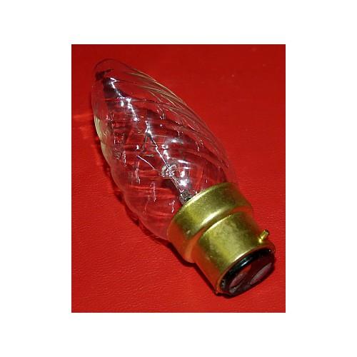 Ampoule Flamme claire torsadé 25, 40 ou 60 watts
