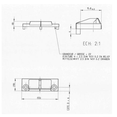 Gâche De Tringle E 13017 Pour Menuiserie Pvc