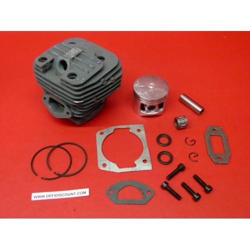 Kit cylindre piston cage à aiguilles segments axe clips 44mm tronçonneuse