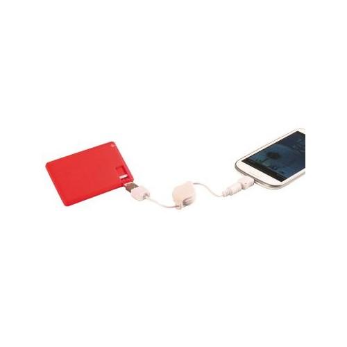Batterie de secours 2000mAh rouge en coffret