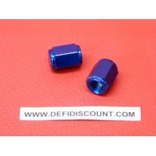 2 Capuchons de valve aluminium anodisée roue Styx bleu
