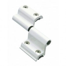 Paumelles menuiserie aluminium universelles axiales 2 lames G 46730 - Noir