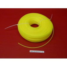 Bobine fil nylon carré débroussailleuse 2.4mmx100m jaune