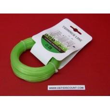 Bobine fil nylon 15mx1.6mm étoilé débroussailleuse, multifonctions vert