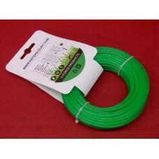 Fil nylon rond vert 2,7mmx15m débroussailleuse multifonctions