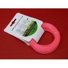 Fil nylon rond rose 2mm x 15m débroussailleuse multifonctions destockage