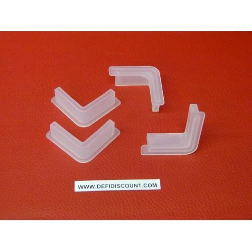 Pieds en plastique pour rayonnage métallique