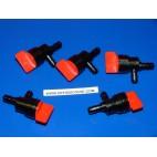 x5 Robinets essence carburant Briggs et Stratton 90° 7-8mm