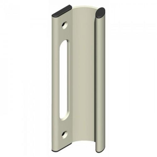 Poignée de tirage pour fermetures encastrées série 6790 de coulissant aluminium coloris blanc 556823