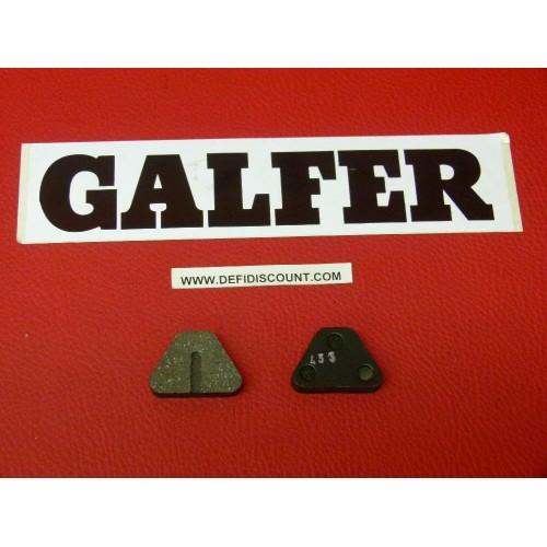 Plaquettes de frein Galfer pour vélo triangulaires moutain bike FD227