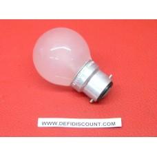 Ampoule sphérique incandescence B22 240v 15w Pila satiné