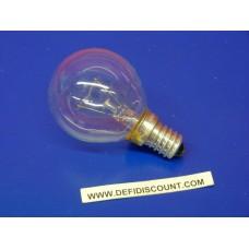 Ampoule sphérique Osram 240v E14 60w clair incandescence