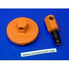 Outil bloc piston et extracteur embrayage tronçonneuse