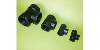 Té égal polypropylène taraudé Femelle 20x27 3/4 pouce