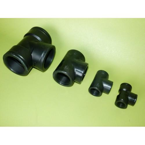 Té égal polypropylène taraudé Femelle 15x21 1/2 pouce