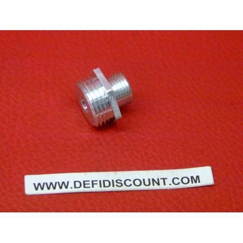 Raccord 6mm Mâle Mâle pas 1.0 - 1.5 aluminium