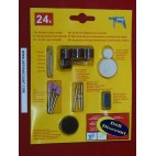 24 mini outils rotatifs pour mini perçeuse type Dremel