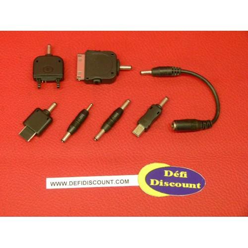 7 adaptateurs raccords téléphone portable