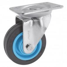 Roulette pivotante sur platine roue Résilex® pour charges moyennes - Gemroll