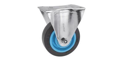 Roulette fixe sur platine roue Résilex® pour charges moyennes - Gemroll