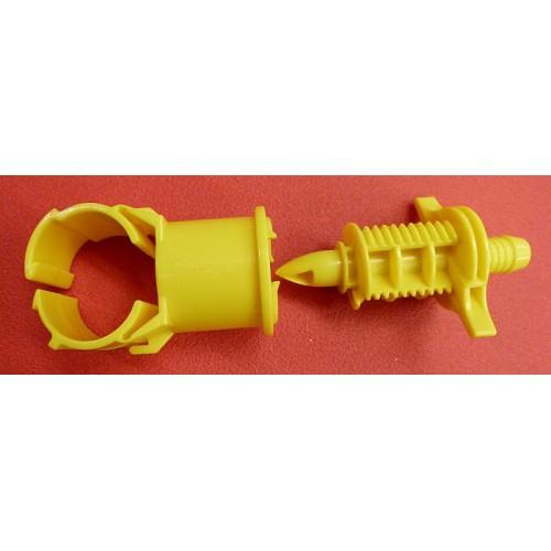 Collier de prise en charge plastique jaune et noir 32mm