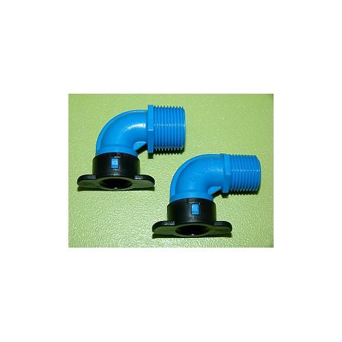 Raccord Blu-lock mâle coudé