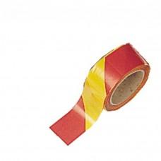 Ruban de signalisation bi-colore jaune/rouge