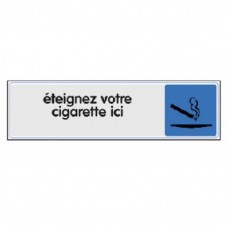 Panneau d'interdiction de fumer et de vapoter - NOVAP