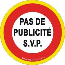 """Disque d'interdiction adhésif au sol """"Interdit aux piétons"""" - NOVAP"""