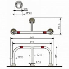 Platine de fixation acier pour butée de quai - VISO