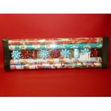 x1 set de papier cadeau bolduc étoile décorative